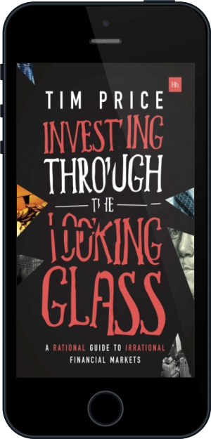 Cover of Investing Through the Looking Glass on Mobile by Tim Price
