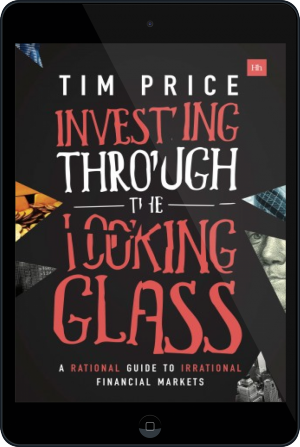 Cover of Investing Through the Looking Glass on Tablet by Tim Price