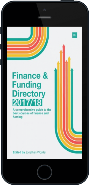 Cover of The Finance and Funding Directory 2017/18 on Mobile by Jonathan Wooller