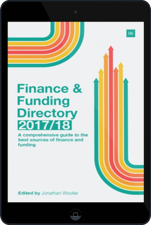Cover of The Finance and Funding Directory 2017/18 on Tablet by Jonathan Wooller