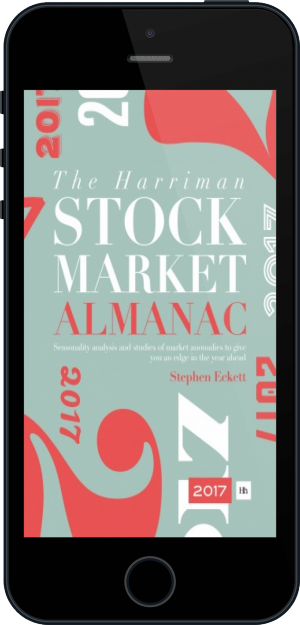 Cover of The Harriman Stock Market Almanac 2017 on Mobile by Stephen Eckett