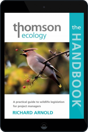 Cover of The Thomson Ecology Handbook on Tablet by Richard Arnold