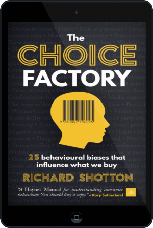 Cover of The Choice Factory on Tablet by Richard Shotton