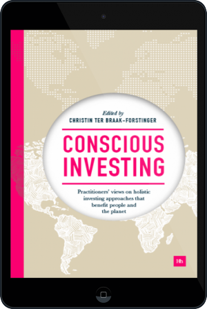 Cover of Conscious Investing on Tablet by Christin ter Braak-Forstinger