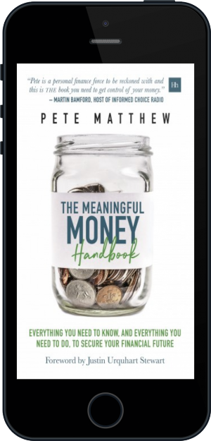 Cover of The Meaningful Money Handbook on Mobile by Pete Matthew