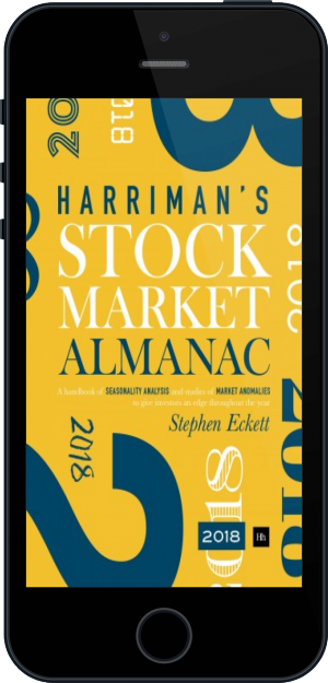 Cover of The Harriman Stock Market Almanac 2018 on Mobile by Stephen Eckett