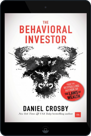 Cover of The Behavioral Investor on Tablet by Daniel Crosby