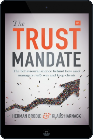 Cover of The Trust Mandate on Tablet by Herman Brodie and Klaus Harnack