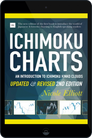 Cover of Ichimoku Charts  on Tablet by Nicole Elliott