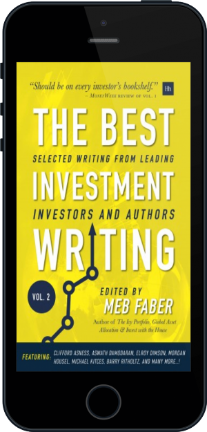Cover of The Best Investment Writing Volume 2 on Mobile by Meb Faber