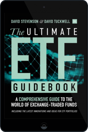Cover of The Ultimate ETF Guidebook on Tablet by David Stevenson and David Tuckwell