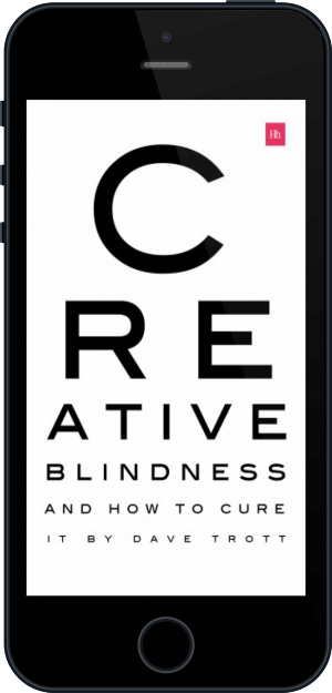 Cover of Creative Blindness (And How To Cure It) on Mobile by Dave Trott