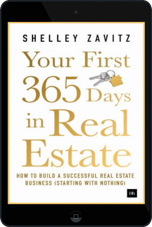 Cover of Your First 365 Days in Real Estate on Tablet by Shelley Zavitz