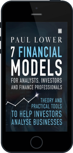 Cover of 7 Financial Models for Analysts, Investors and Finance Professionals on Mobile by Paul Lower