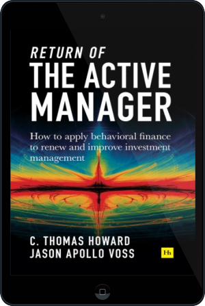 Cover of Return of the Active Manager on Tablet by C. Thomas Howard and Jason Apollo Voss