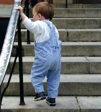 gå i trappa