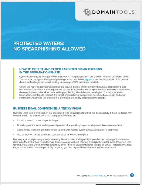 Protected Waters: No Spear Phishing Allowed