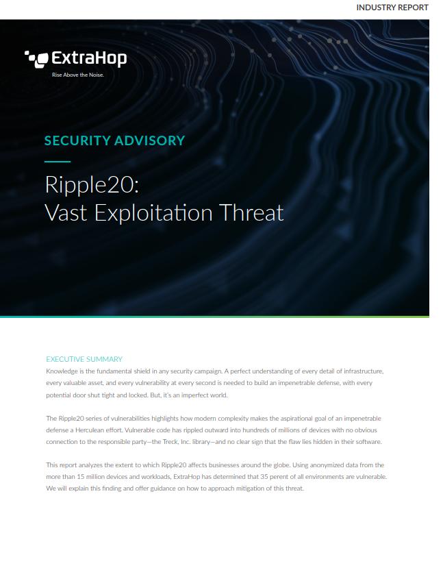 Security Advisory: Ripple20 Vulnerabilities