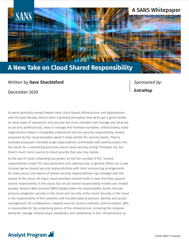 A New Take on Cloud Shared Responsibility