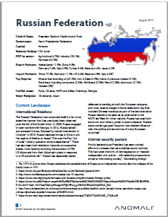 Russian Federation Cybersecurity Profile from Anomali