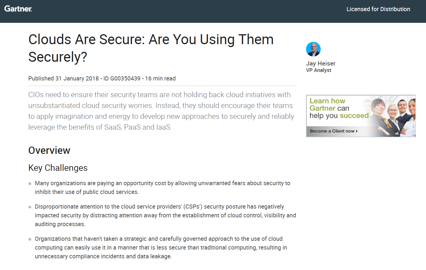 Clouds are Secure: Are you Using Them Securely
