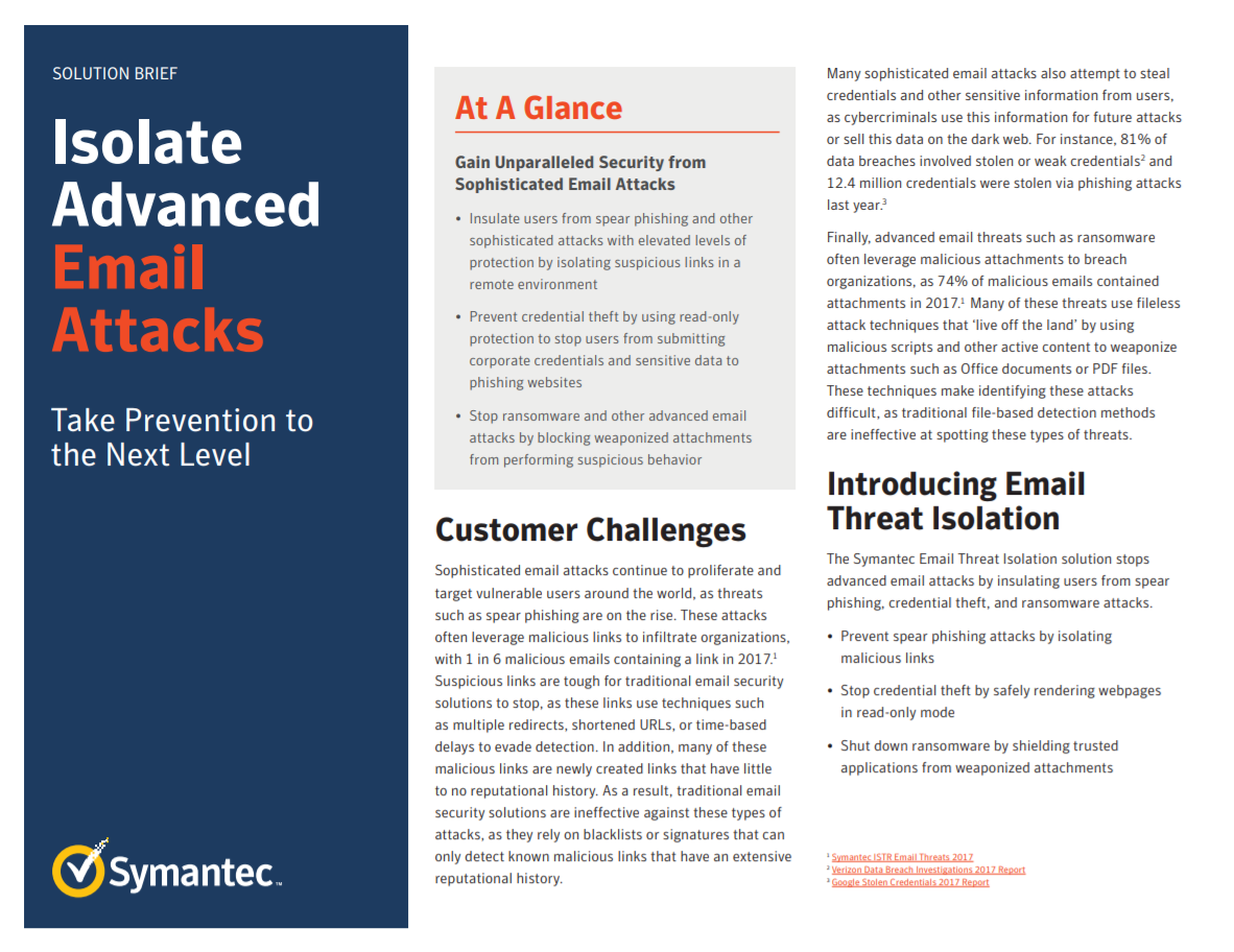 Isolate advanced email attacks