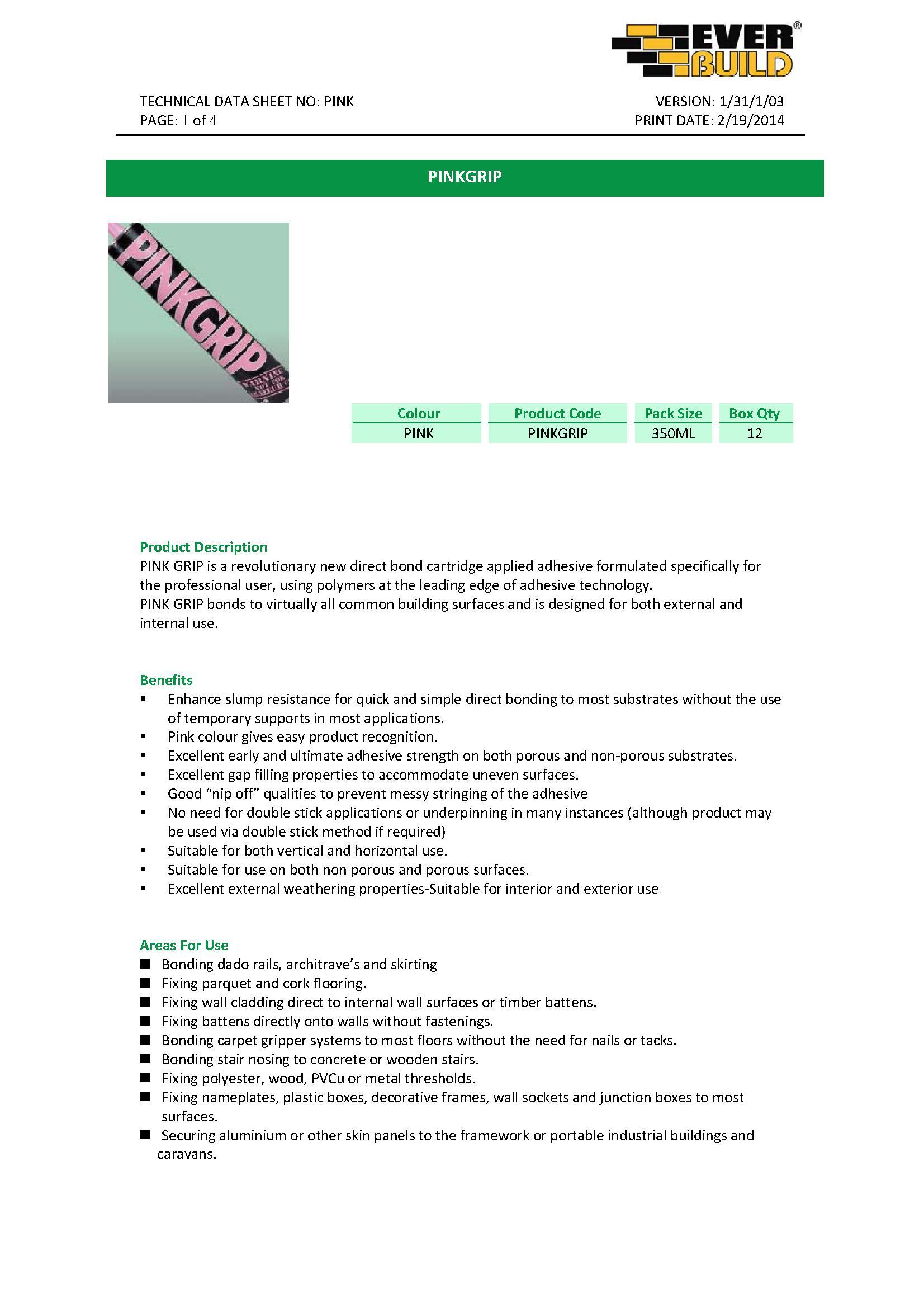 Pink Gripfill PDF