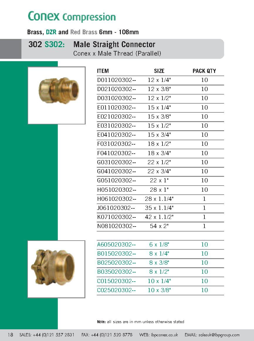 Conex Male Coupler PDF