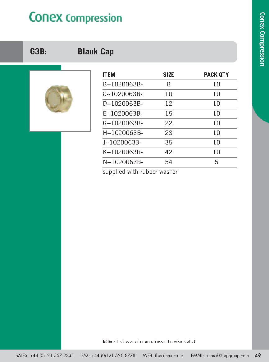 Conex Blank Capnut PDF