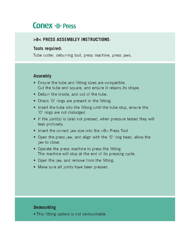 Elbow Conex B Press PDF