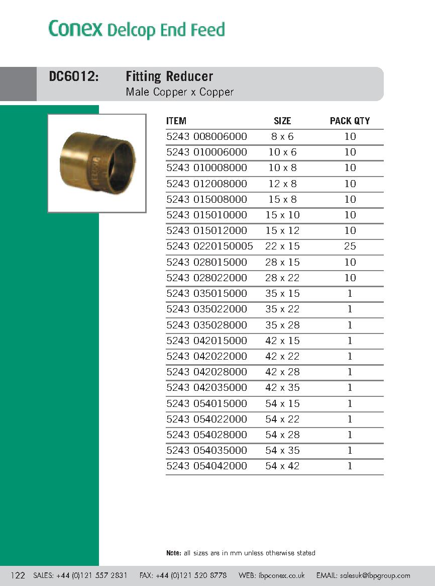 Endfeed 35X28 6012 Fitting Reducer (c) PDF