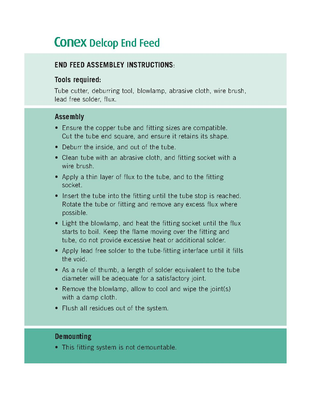 Endfeed Wras Tube End Cap PDF