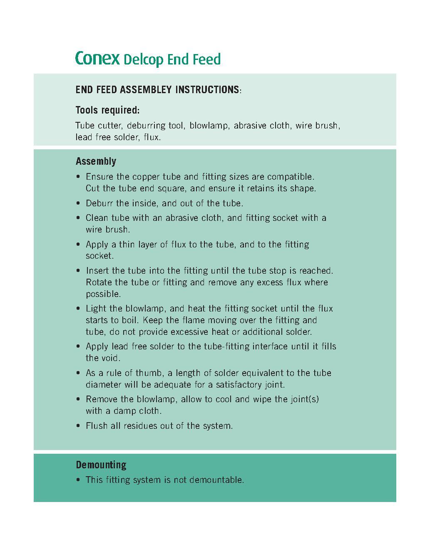 Endfeed Wras Male Coupling PDF