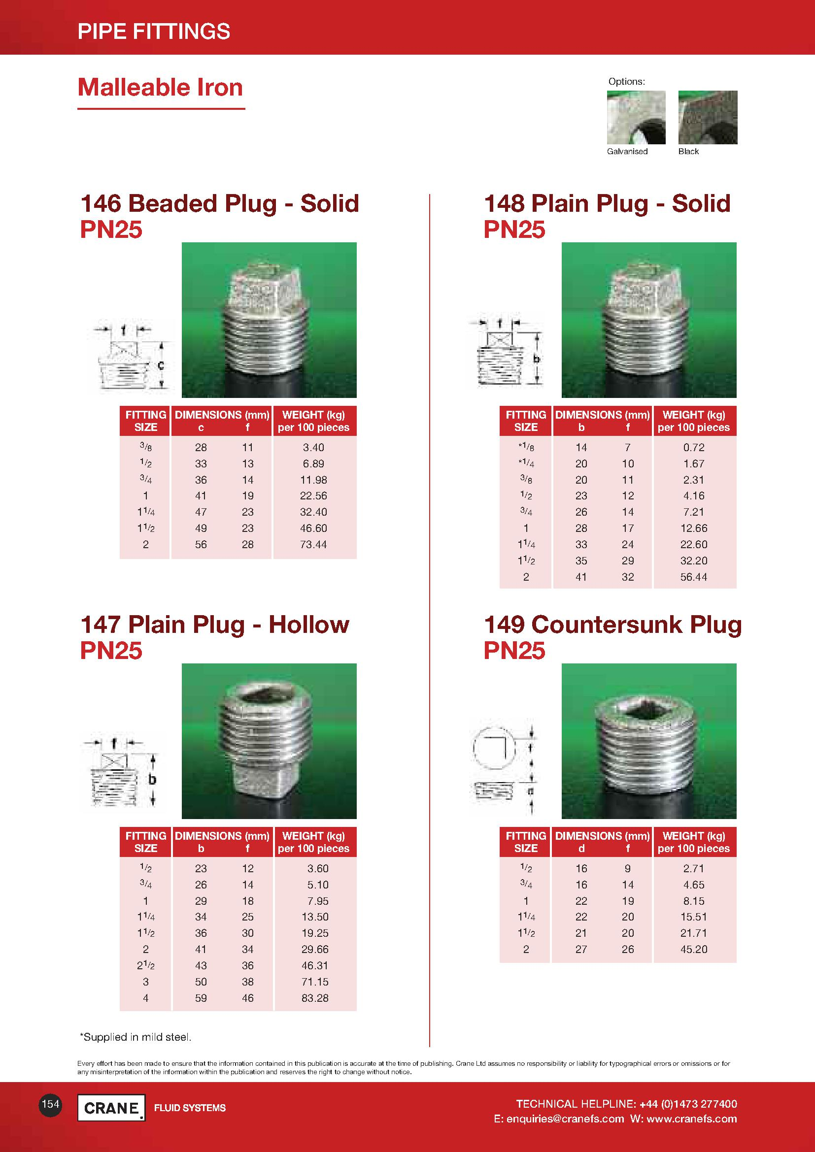 Crane Plain Plug Hollow PDF