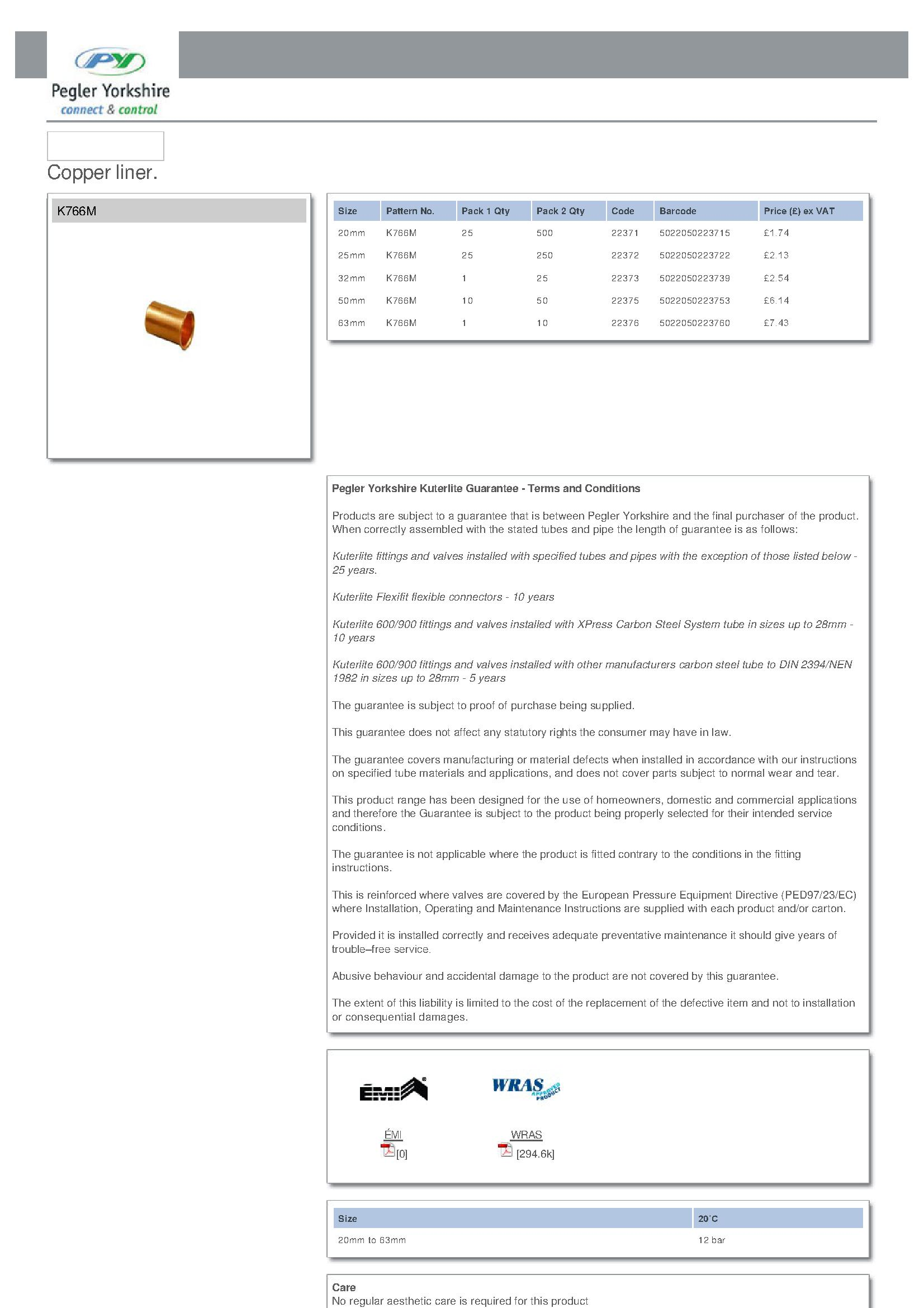 Kuterlite Copper Liner PDF