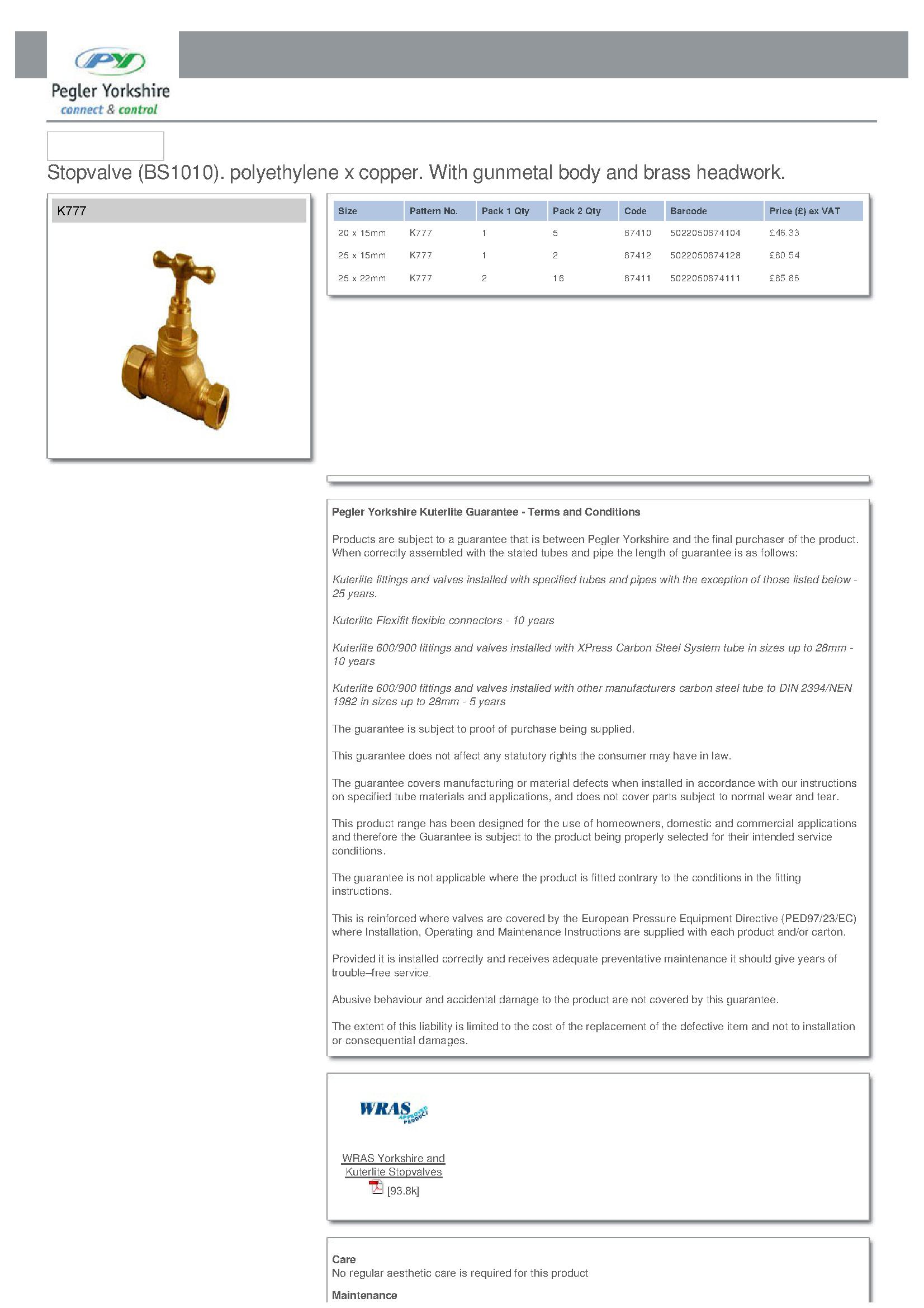 Kuterlite Stopcock PDF