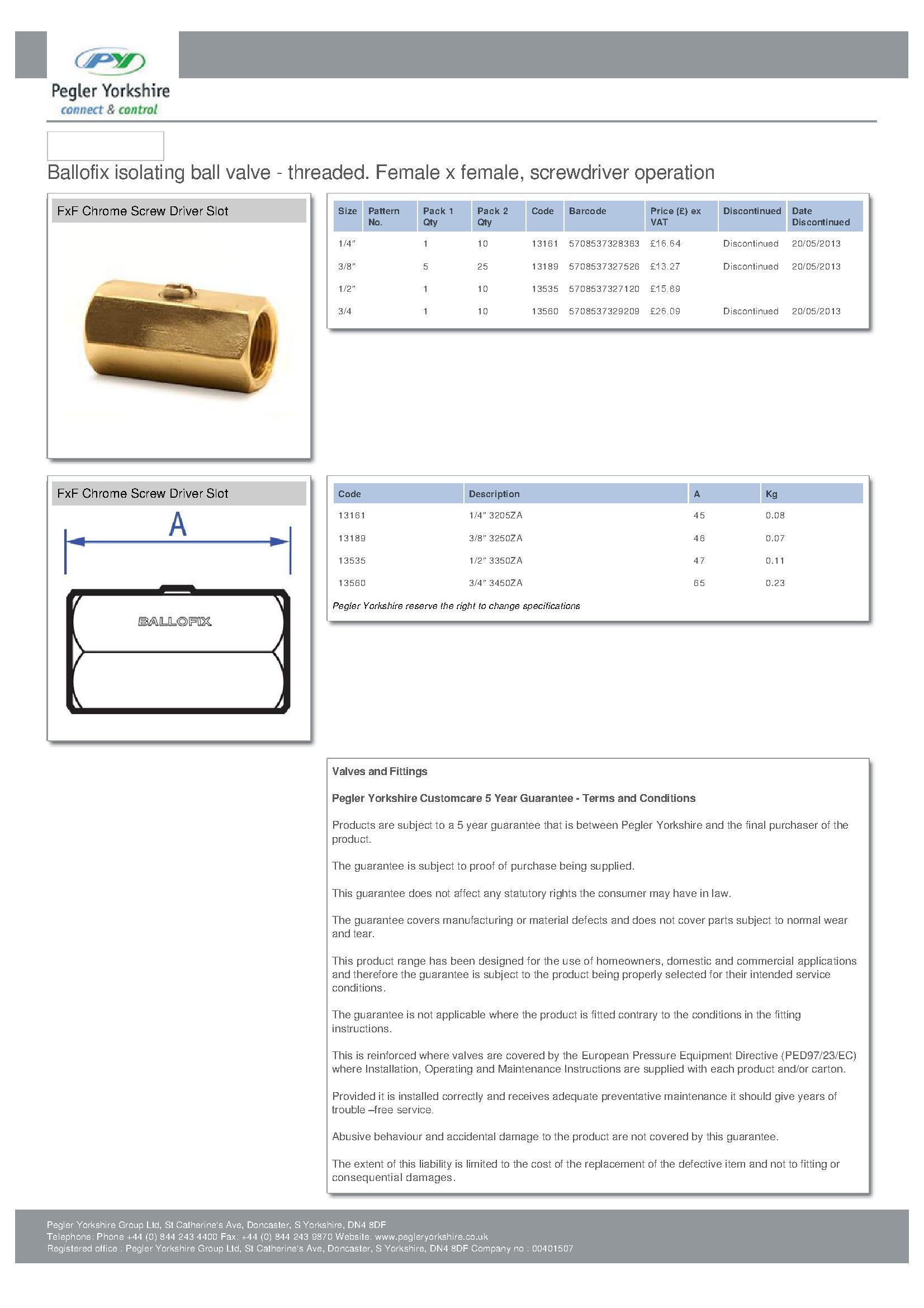 Ballofix 3450YA 3/4