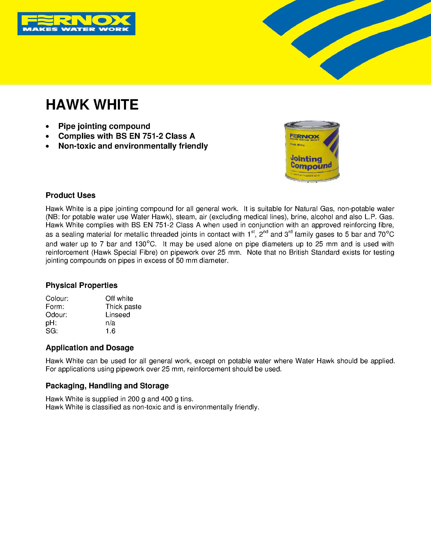 Fernox Hawk White PDF