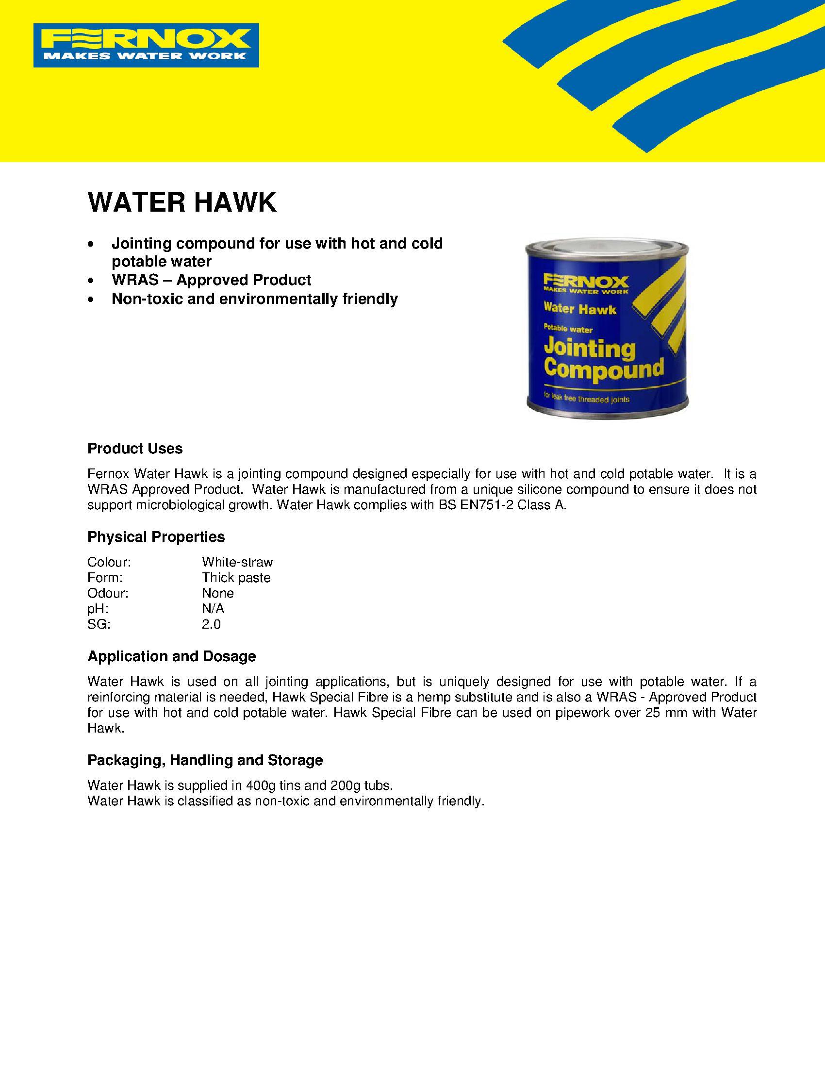 Fernox Water Hawk PDF