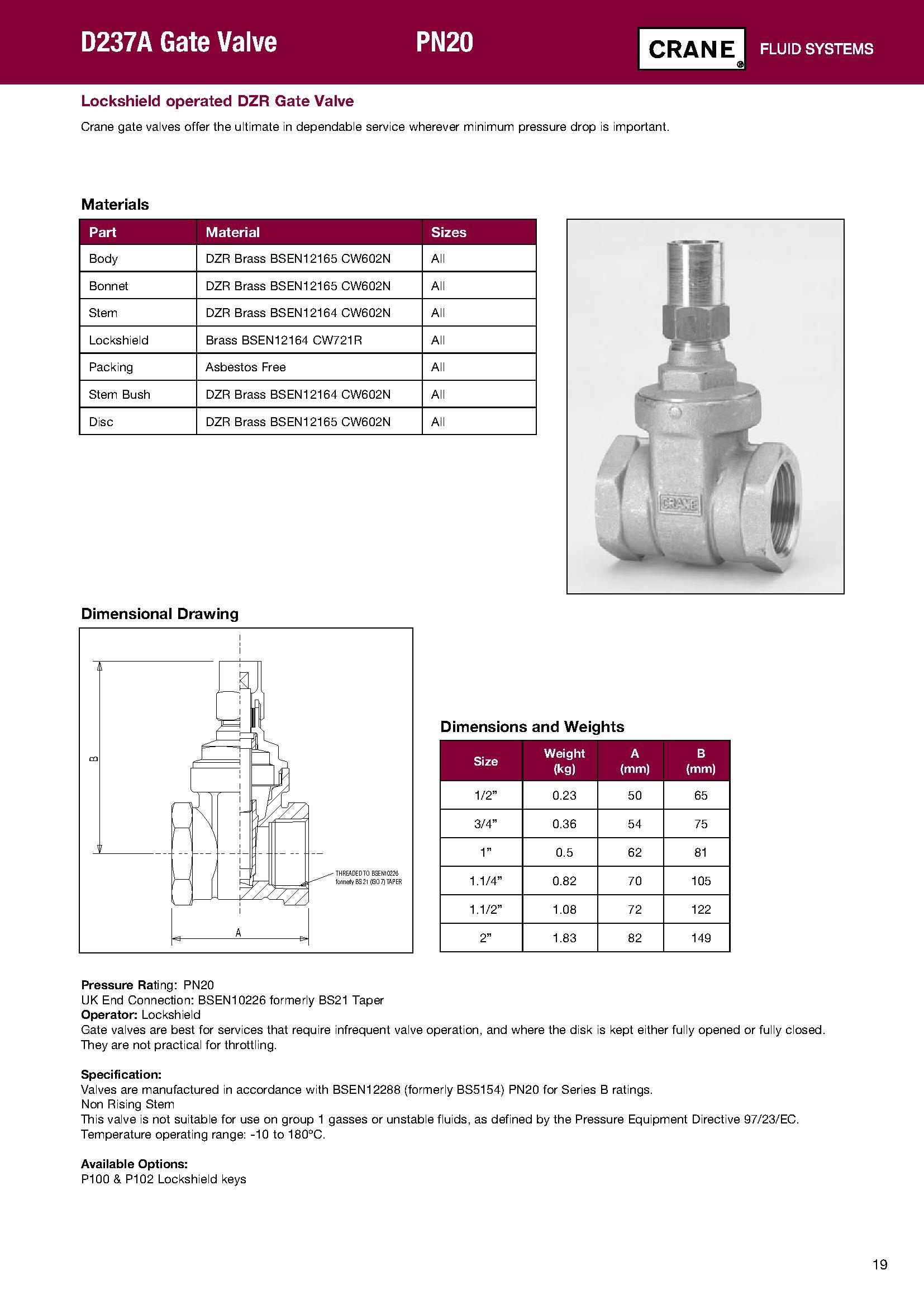 Crane d237a 34 gate valve lock shield harris bailey ltd crane d237a 34 pooptronica Images