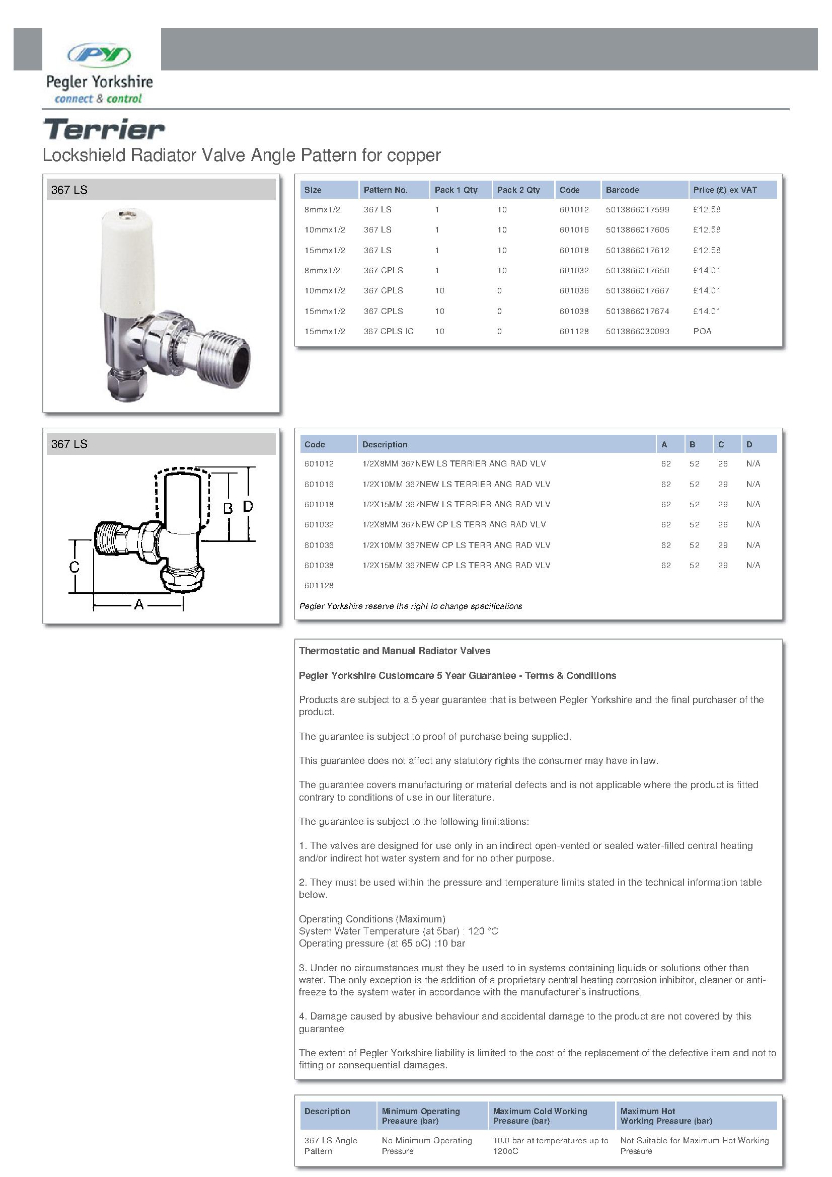 Terrier Lock Shield Angle Valve PDF