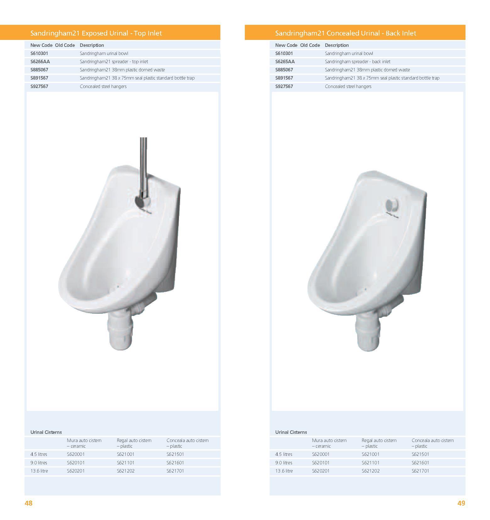 Domed Urinal Waste Plastic PDF
