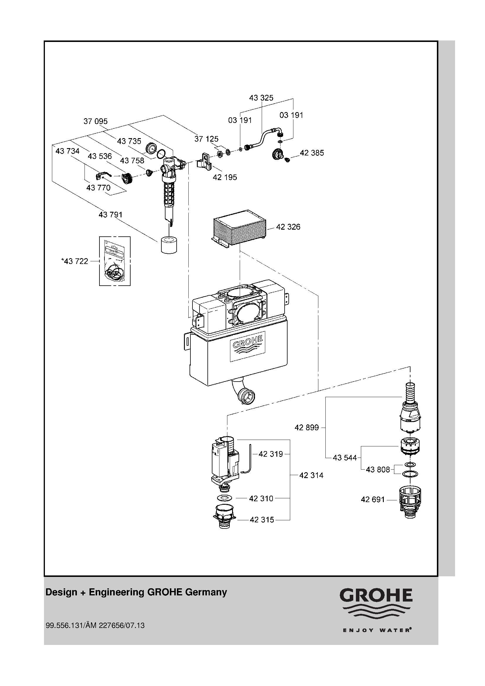 Grohe Toilet Cistern (VG38422) -Harris & Bailey Ltd