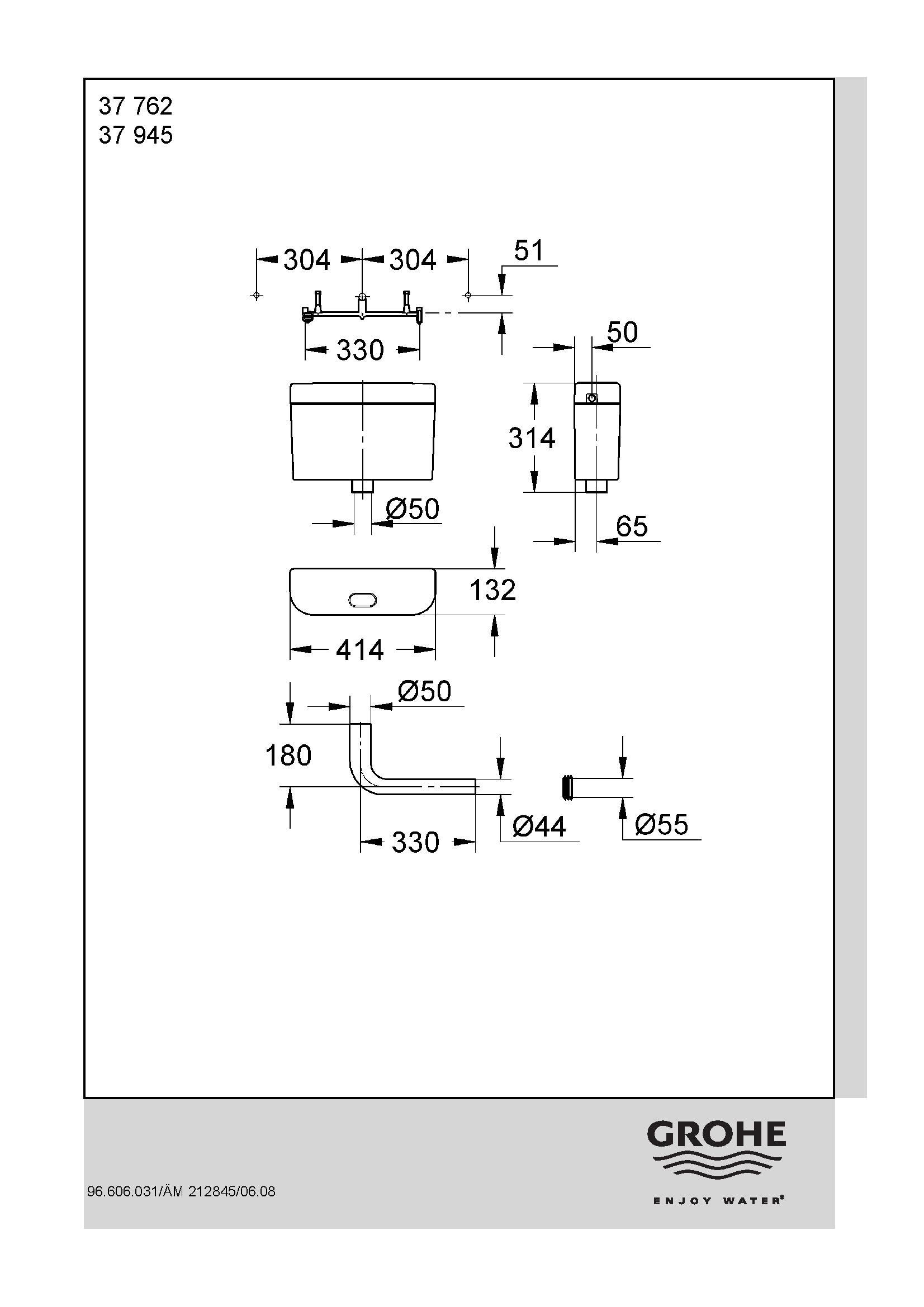 Grohe Adagio Flushing Cistern PDF