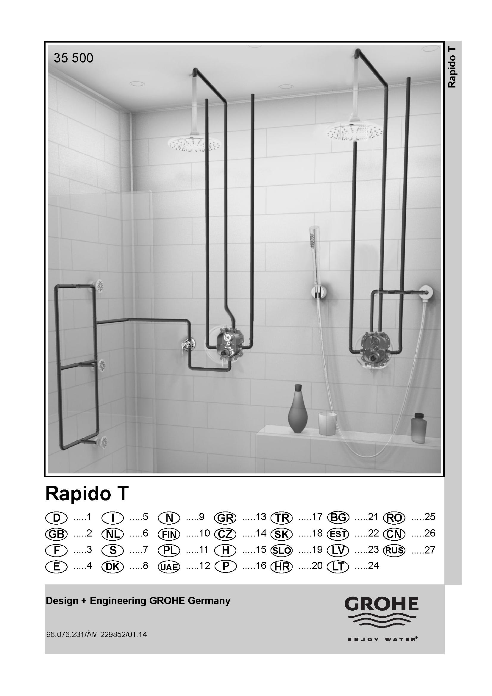 grohe 35500 rapido t box thermostatic harris bailey ltd. Black Bedroom Furniture Sets. Home Design Ideas