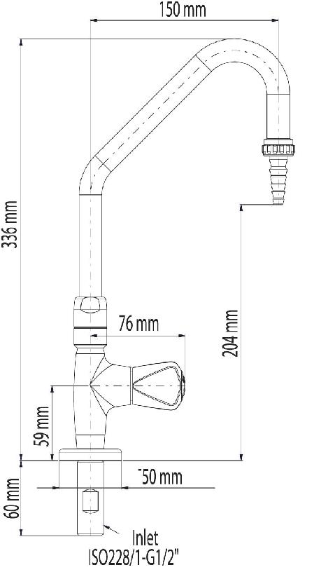 Bench Swivel Swanneck Tap Removable Nozle PDF