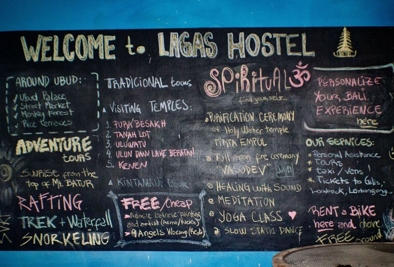 hostel with board of activities that you can do
