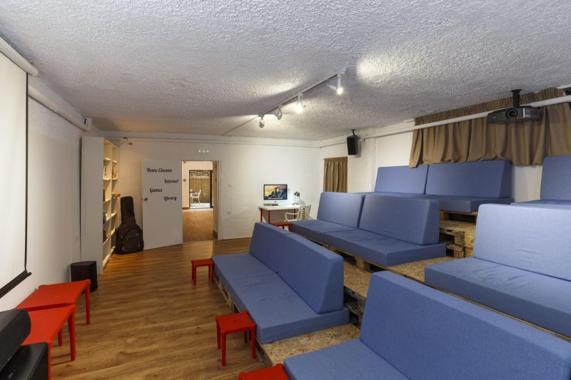 hostel with a cinema