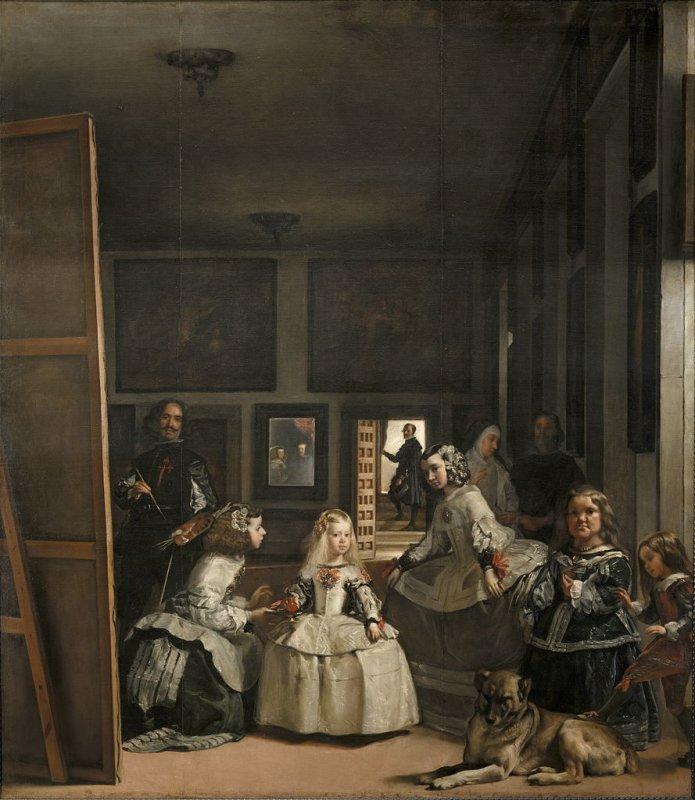The meninas of Velázquez painting