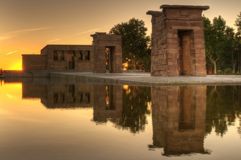 Sunset at Debod Temple